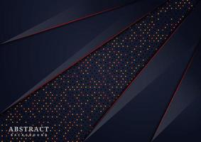 Abstract dark blue glitter overlapping layers vector