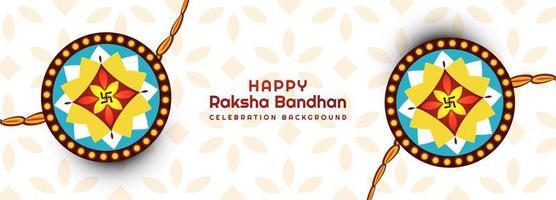 Rakhi decorado para pancarta raksha bandhan vector