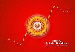 Diseño del festival indio raksha bandhan en rojo vector