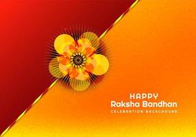 rakhi para tarjeta raksha bandhan vector