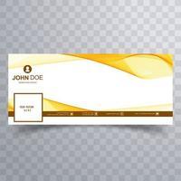 diseño de banner de onda amarilla abstracta vector