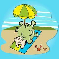 coronavirus sulla spiaggia