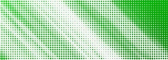 Abstract green dotted banner background vector