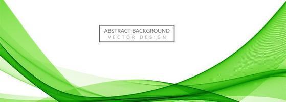 Modern Green Stylish Wave Banner vector