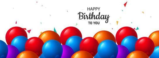 Celebration birthday banner card background