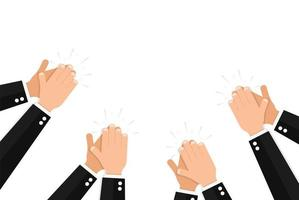 Clapping hands of people wearing elegant formal suits vector