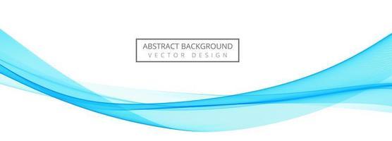 banner de onda elegante azul creativo vector