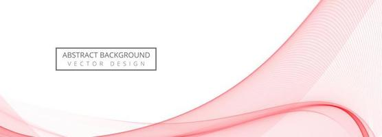 Abstract Stylish Pink Business Wave Banner vector