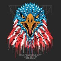 Eagle head american flag vector