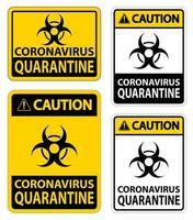signo de cuarentena de coronavirus vector