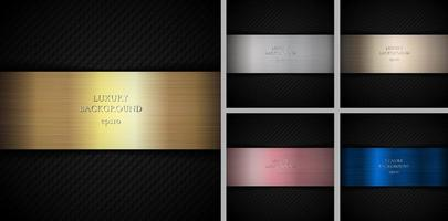 Set of metallic backgrounds  vector