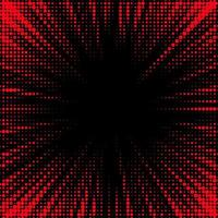 Abstract Dotted Red, Black Background vector