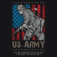 American veteran army vector