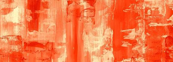 Abstract orange oil paint texture banner background