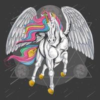 unicornios volando y cabello colorido