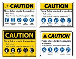 Caution Please follow standard precautions