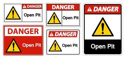 Open Pit Sign vector