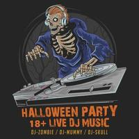 Halloween skull party