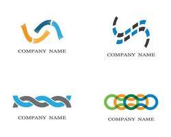 Infinity symbol logo set  vector