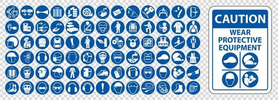 PPE icon set. vector