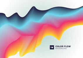 Abstract modern colorful fluid line