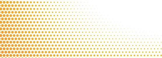 Abstract Orange Halftone Dots Banner vector