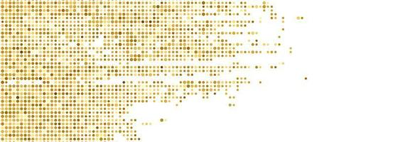 Abstract glitter dots banner background vector