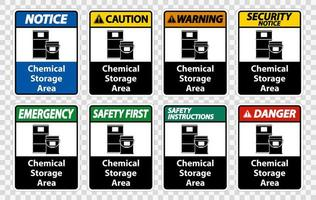 Chemical Storage Warning  vector