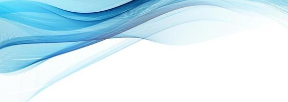 Modern Flowing Blue Wave Banner on White vector