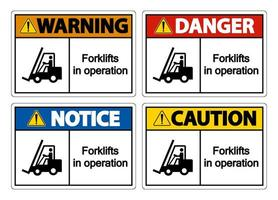 Forklifts in operation Symbol Sign vector