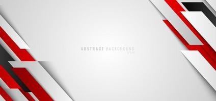 Red and white geometric diagonal on white background