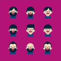 Collection of face icons