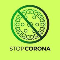 arrêt corona noir et vert