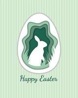 Rabbit inside egg vector