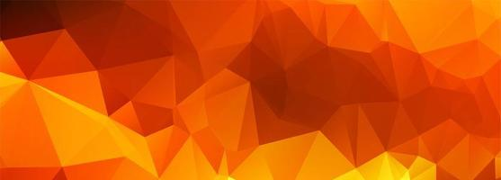 banner poligonal laranja abstrato vetor