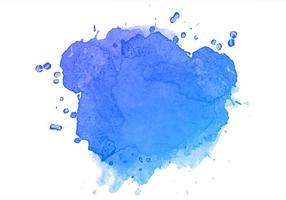 Blue watercolor hand paint splash design vector