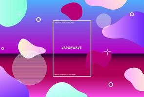 Holographic design with different geometric shapes  vector