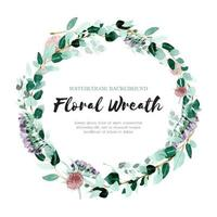 Tender Eucalyptus Watercolor Wreath