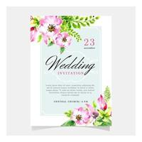 Tender Floral Wedding Template vector