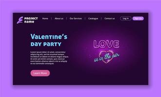 Valentines day party web page