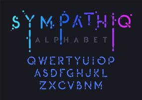 Gradient liquid alphabet vector