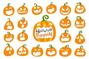 Orange Halloween pumpkin set