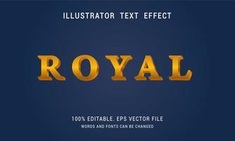 Royal Text Effect Design vector