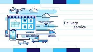 servicio de entrega tienda online diseño del esquema