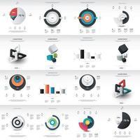 Chart Infographics Template vector
