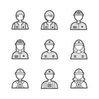 icono de rescate médico avatar