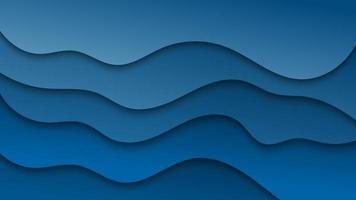 Blue Abstract Paper Cut Background Design vector