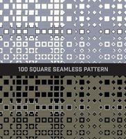 Conjunto quadrado 100 padrão sem emenda vetor
