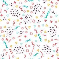 Coloridos patrones geométricos sin fisuras en el estilo de memphis vector