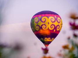 Bright colorful hot air balloon